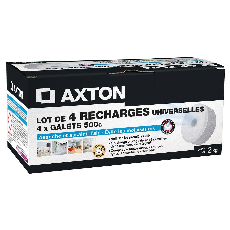 Absorbeur D Humidité Avis lot de 4 recharges galet percé pour absorbeur d'humidité