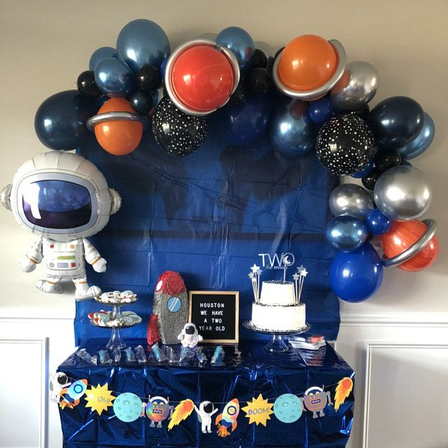 Space Balloon Garland Space Party Astronaut Balloon Outer Space Party Astronaut Blast Off Birthday Space Birthday To The Moon In 2020 Space Birthday Party Space Party Space Party Decorations