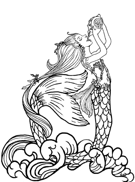 ArtMermaidSweetRainwater | ✐♋Adult Colouring~Under the Sea ~ Fish ...