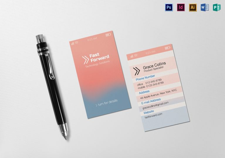 Stylish iphone business card template business cards file size stylish iphone business card template accmission