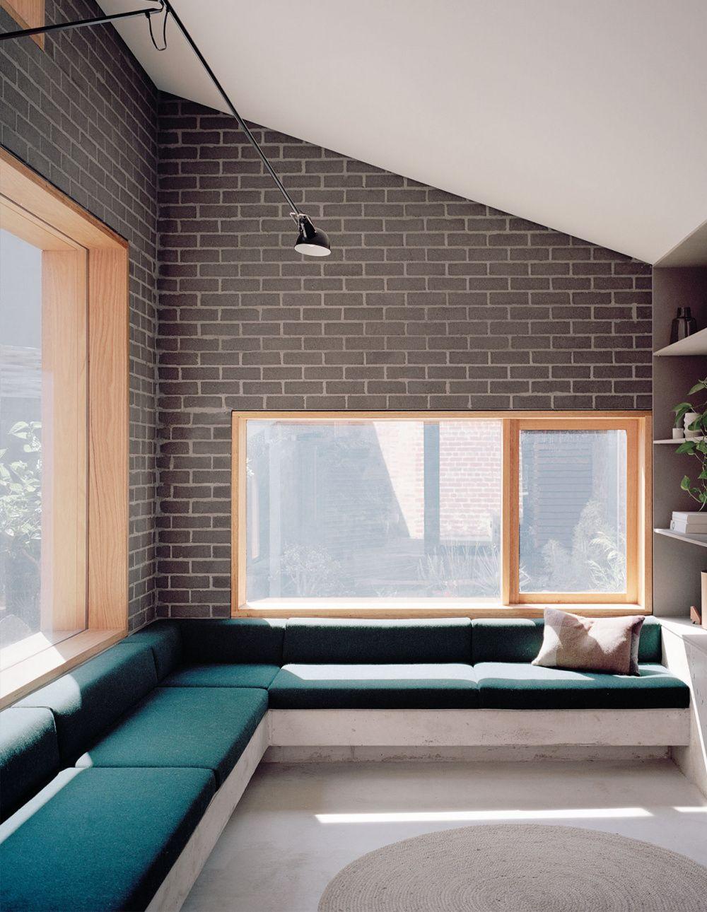 Breathing Bold New Life Into A Heritage Home Brick Interior Interior Architecture Window Seat Design