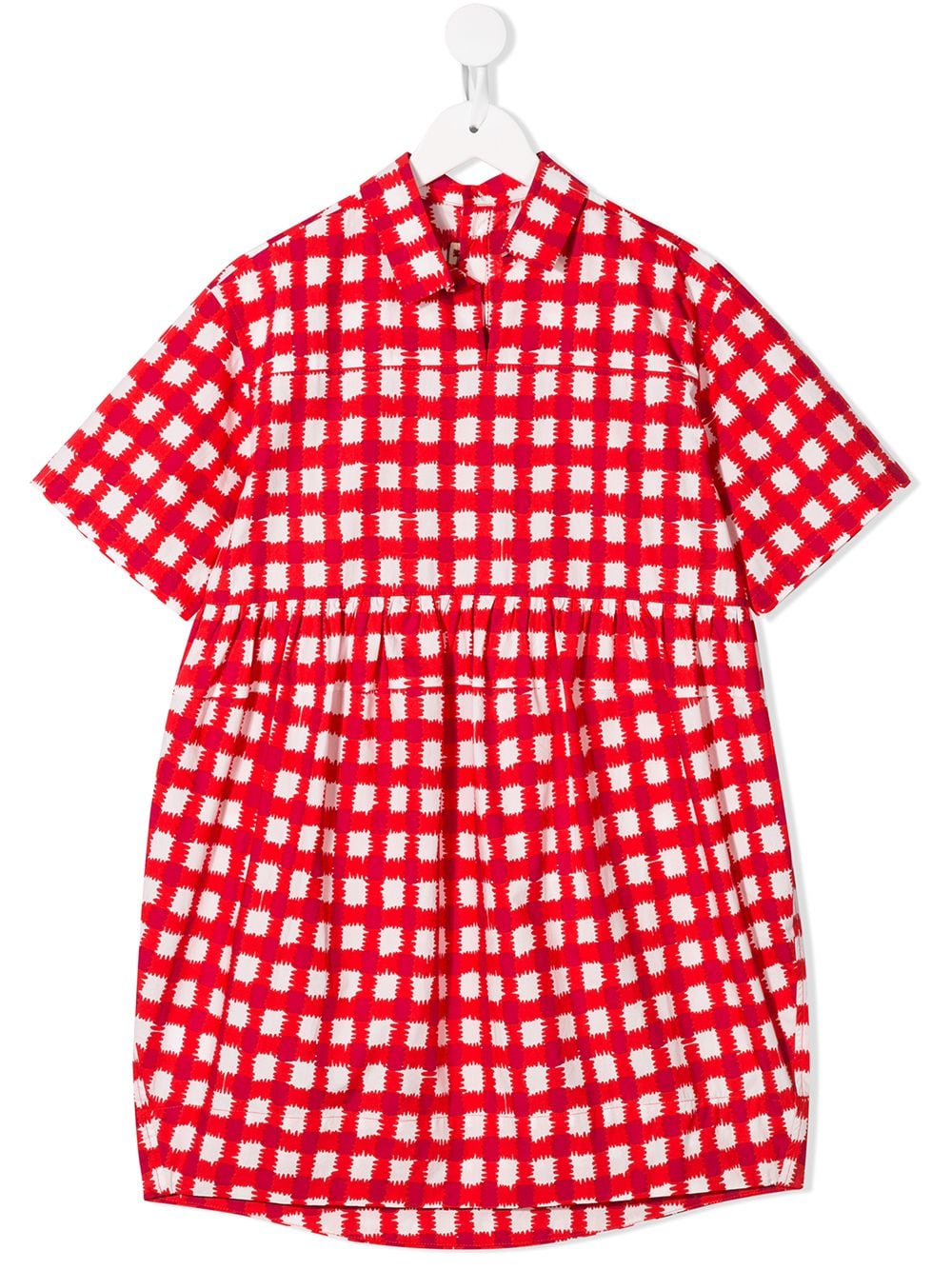 7b05398b86f6 Marni Kids checked dress - Red in 2019 | Products | Check dress, Kid ...