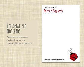 personalized teacher notepad teacher notepad teacher note pad