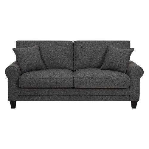 Serta Deep Seating Copenhagen Fabric Sofa Grey Sofa