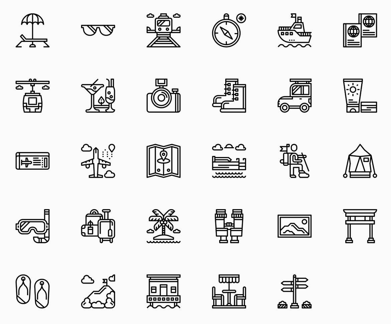 Noun Project 'Travel Collection'. Created by Surangkana