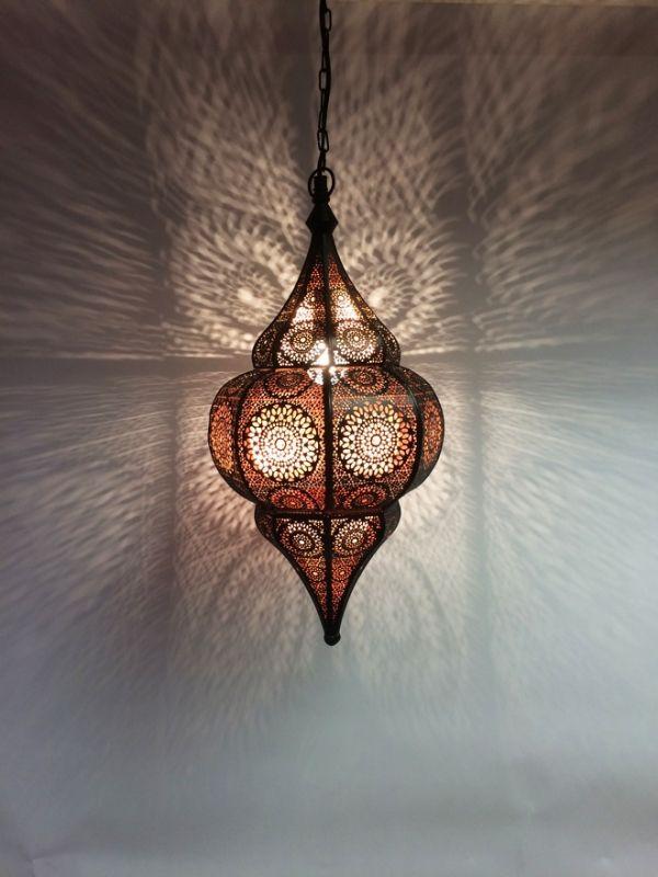 Orientalische Indische Deckenlampe Malha | Aus Metall U0026 Glas | Deckenlampen  | Hängeleuchten |