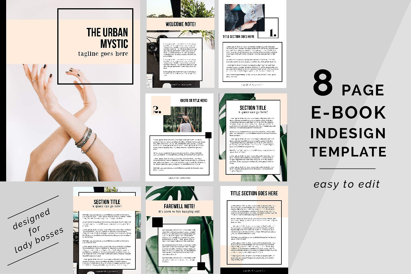 urban mystic ebook indesign template - presentations | book and, Powerpoint templates