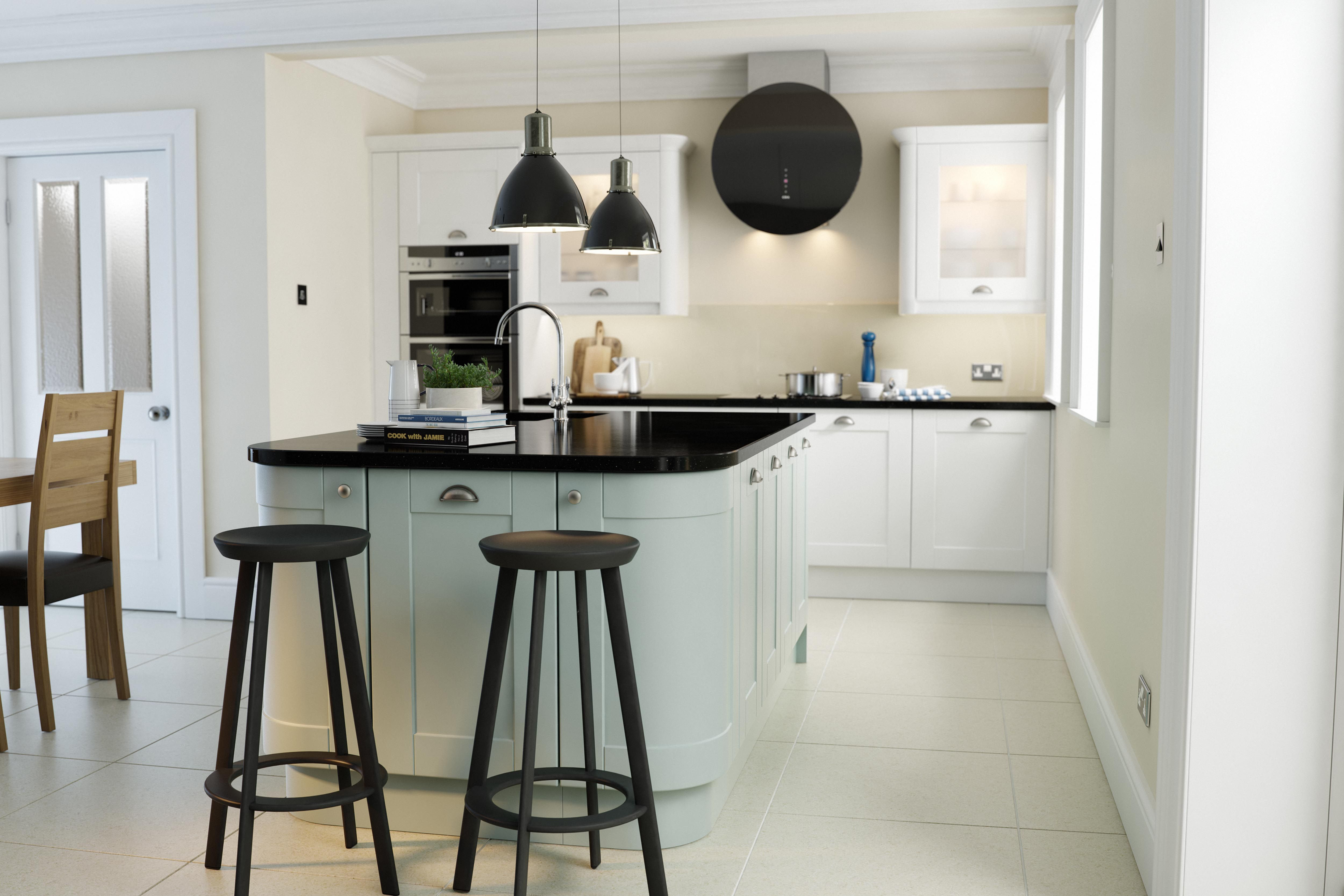 Wren Kitchens - Shaker Ermine Pale Sky - New for 2014 this stunning ...