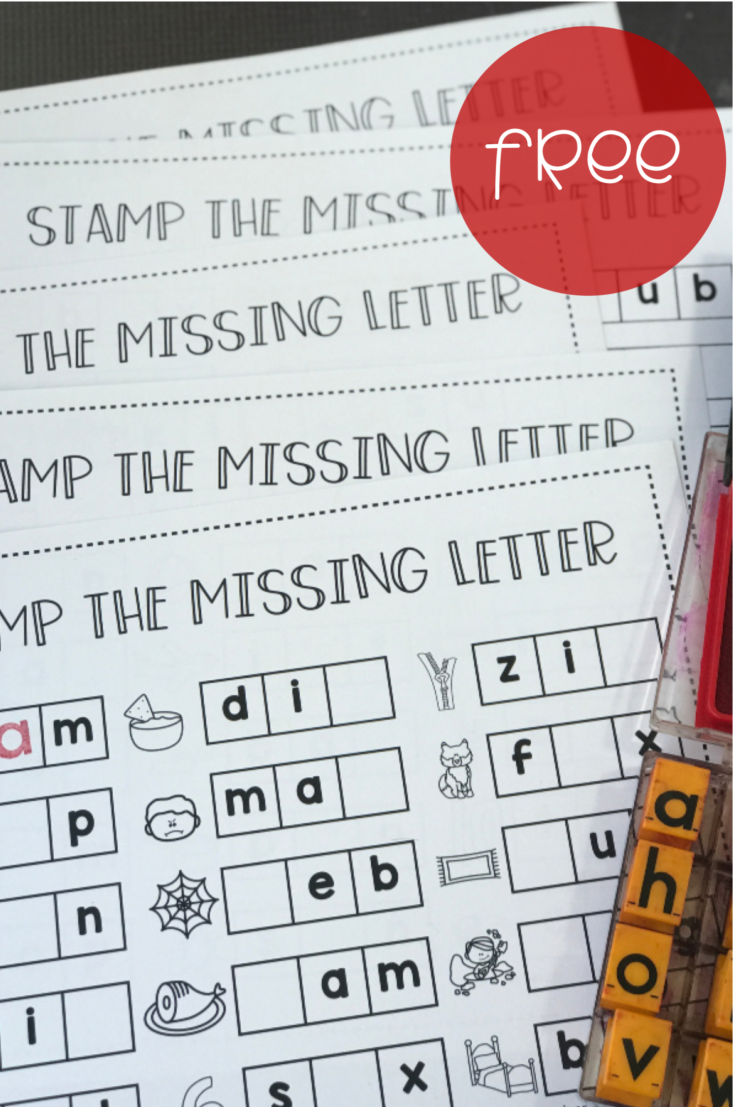 Students Can Stamp The Missing Letter With These Free Cvc Word Worksheets Stamp The Beginning