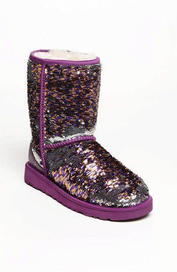 Purple Sparkle Sequin UGG Boots