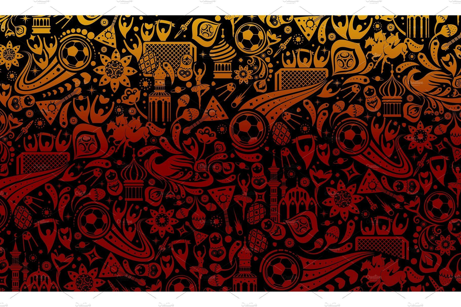 Russian Football Background Football Background Background Illustration