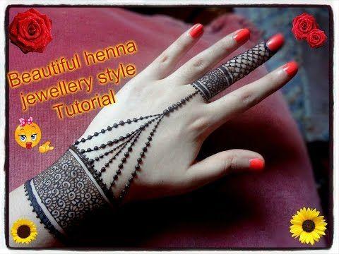 Beautiful Henna Mehndi Jewellery : Easy diy beautiful henna mehndi jewellery style tutorial for eid