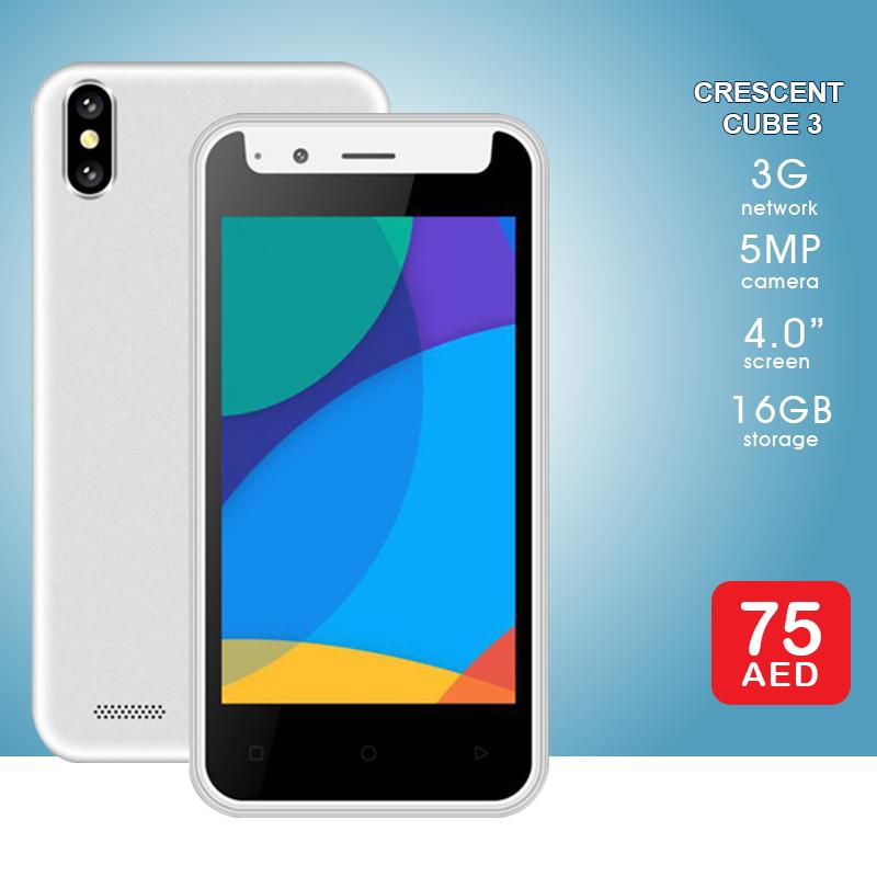 AED 75 | Crescent Cube 3 - Smartphone Specs ➜ 3G, 1GB RAM, 5MP, 4 0