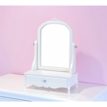 Home Craft Mill Valley Vanity with Mirror in Multiple Colors, White