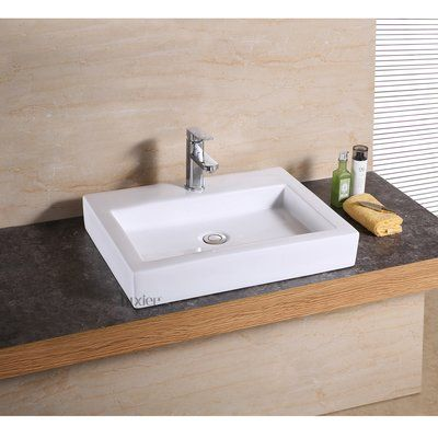 Luxier Vanity Art Basin Rectangular Vessel Bathroom Sink Products