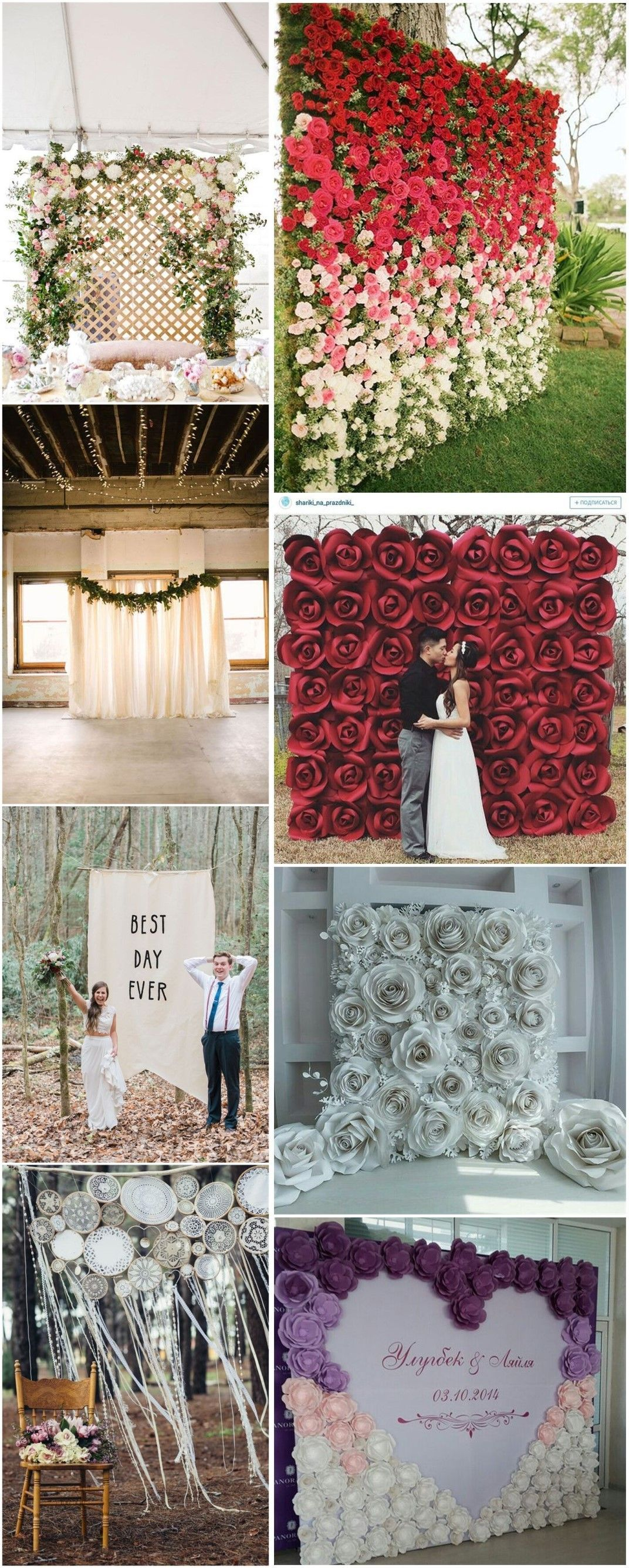 b3894c30e66 Rustic Weddings » 30 Unique and Breathtaking Wedding Backdrop Ideas » ❤  More  http
