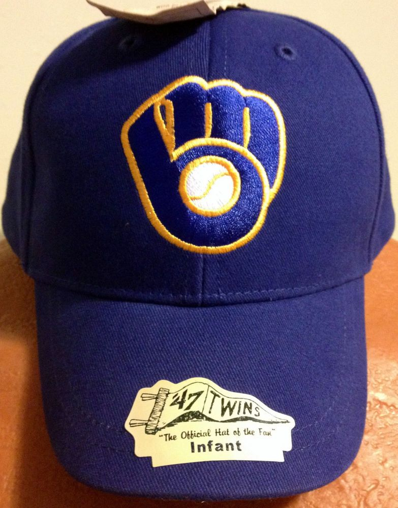 9b27ced7d12 MILWAUKEE BREWERS TWINS 47 INFANT ADJUSTABLE THROWBACK CAP HAT NEW TAG FREE  SHIP  TwinsEnterprisesInc  MilwaukeeBrewers