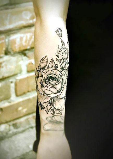 Best Flower On Forearm Tattoo Idea Sunflower Tattoo Design