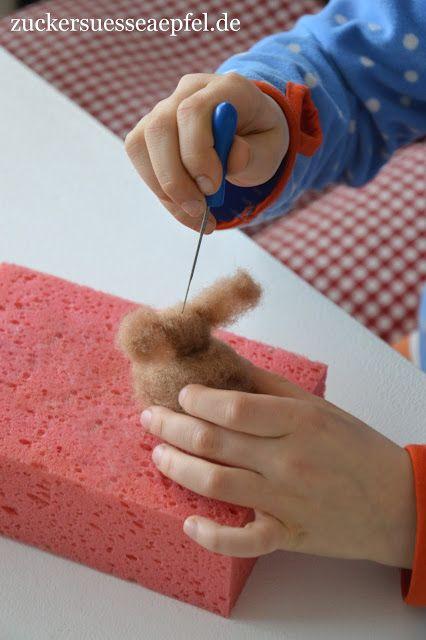 Photo of Süße gefilzte Hasen als Geschenk zu Ostern, als Osterdekoration oder für den Jahreszeitentisch selbst machen