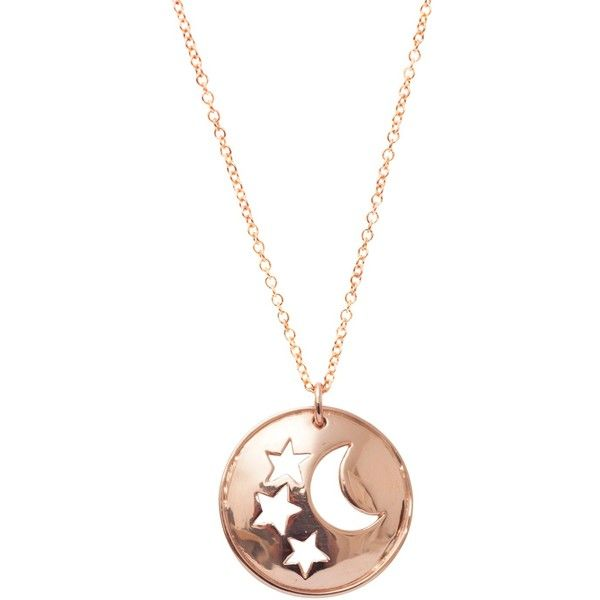 London Road Jewellery Portobello Rose Gold Star and Moon Starry Night Necklace 9y0gz