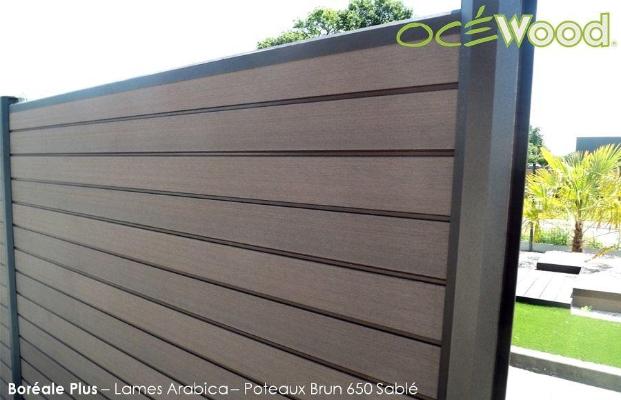 Lames de cloture en composite Brun Arabica - Océwood® Clôtures