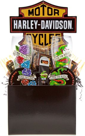 Harley davidson retro gift basket gift ideas pinterest harley davidson retro gift basket negle Image collections