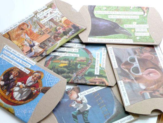 Nursery Rhyme Art Gift Box for Children 6 Collage door PaperDraper, £18.00