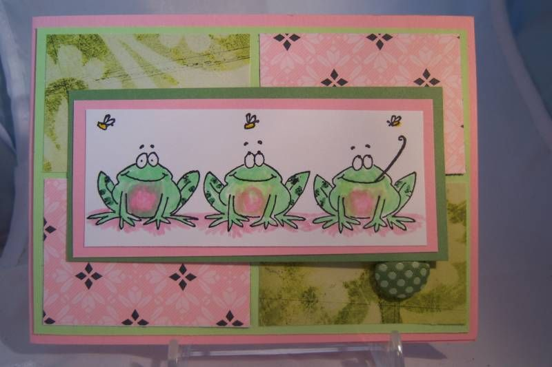 pampopular's Three Frogs PB card by barbaralynn - Cards and Paper Crafts at Splitcoaststampers