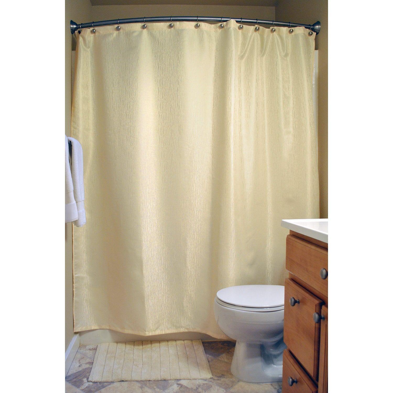 Cream Ivory Bamboo Detailed Shower Curtain
