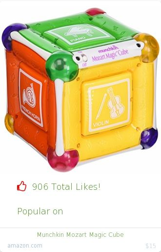 Top christmas gift on undefined 906 people likes on Internet. 906 thumbs-up on .undefined munchkin amazon christmas gift. munchkin mozart magic cube from amazon christmas gifts. http://www.MostLikedGifts.com/top-popular-christmas-gifts/amazom-christmas-gift-B00004TFLB-munchkin-mozart-magic-cube