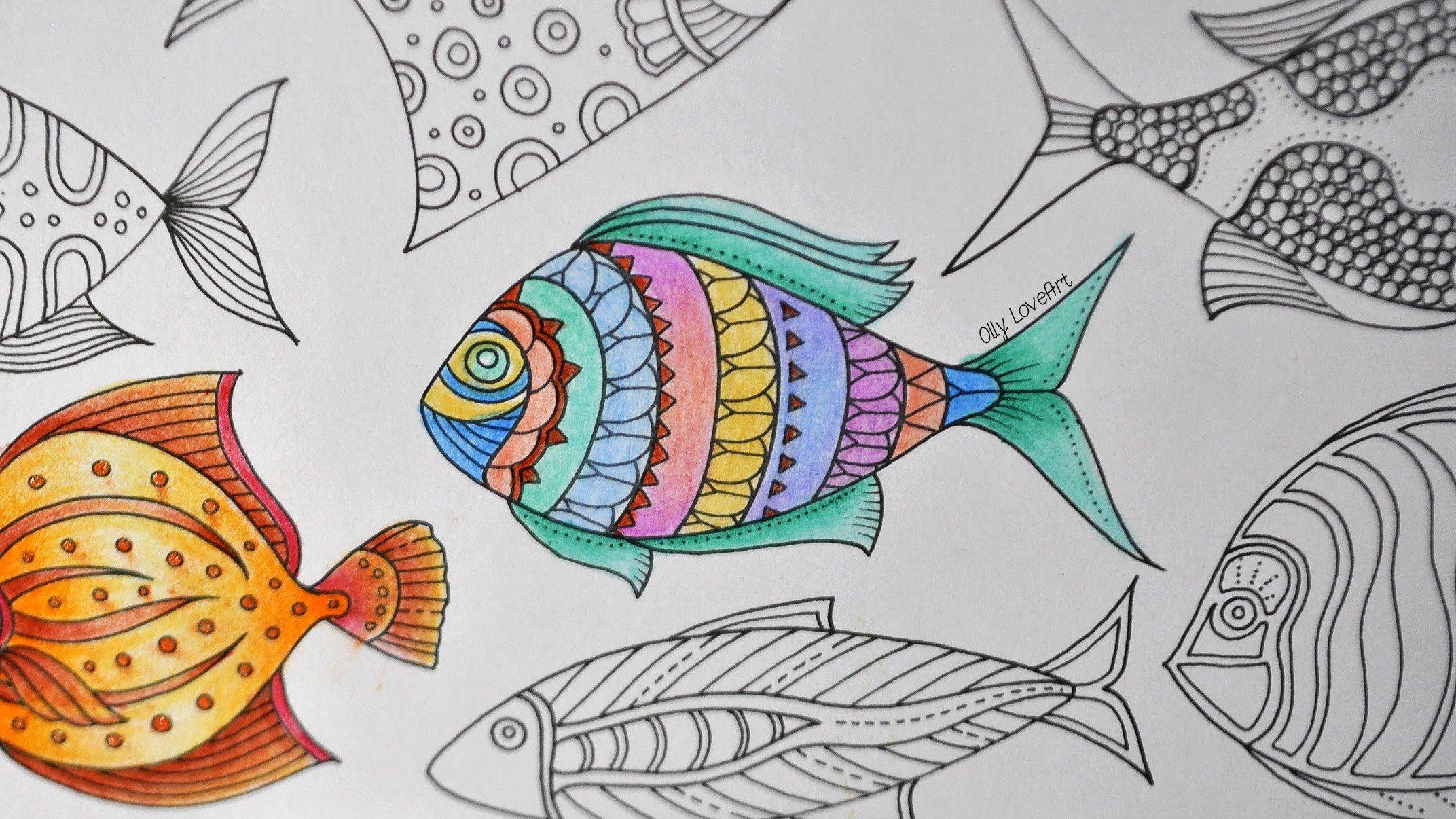 Lost Ocean How To Color A Fish Part 5 Oceano Perdido Colorir Desenhos