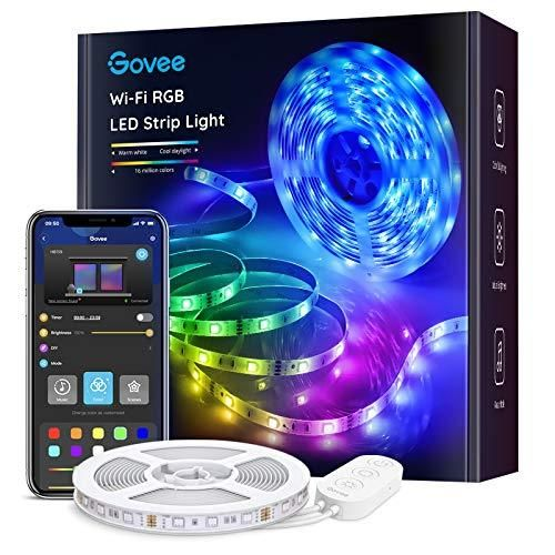 Govee Smart Led Strip Lights 16 4ft Wifi Led Lights Work With Alexa And Google Assistant Bright 5050 Leds 16 Million Colors With App Control And Music Sync F In 2021 Led