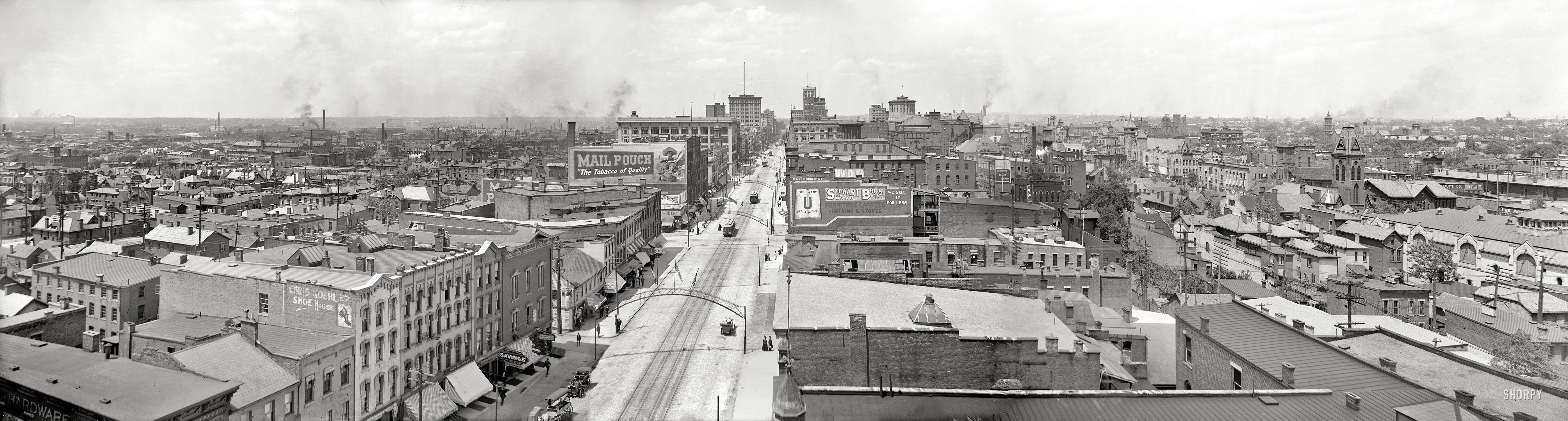 Columbus Ohio Circa 1909 Aerial View From Courthouse Shorpy