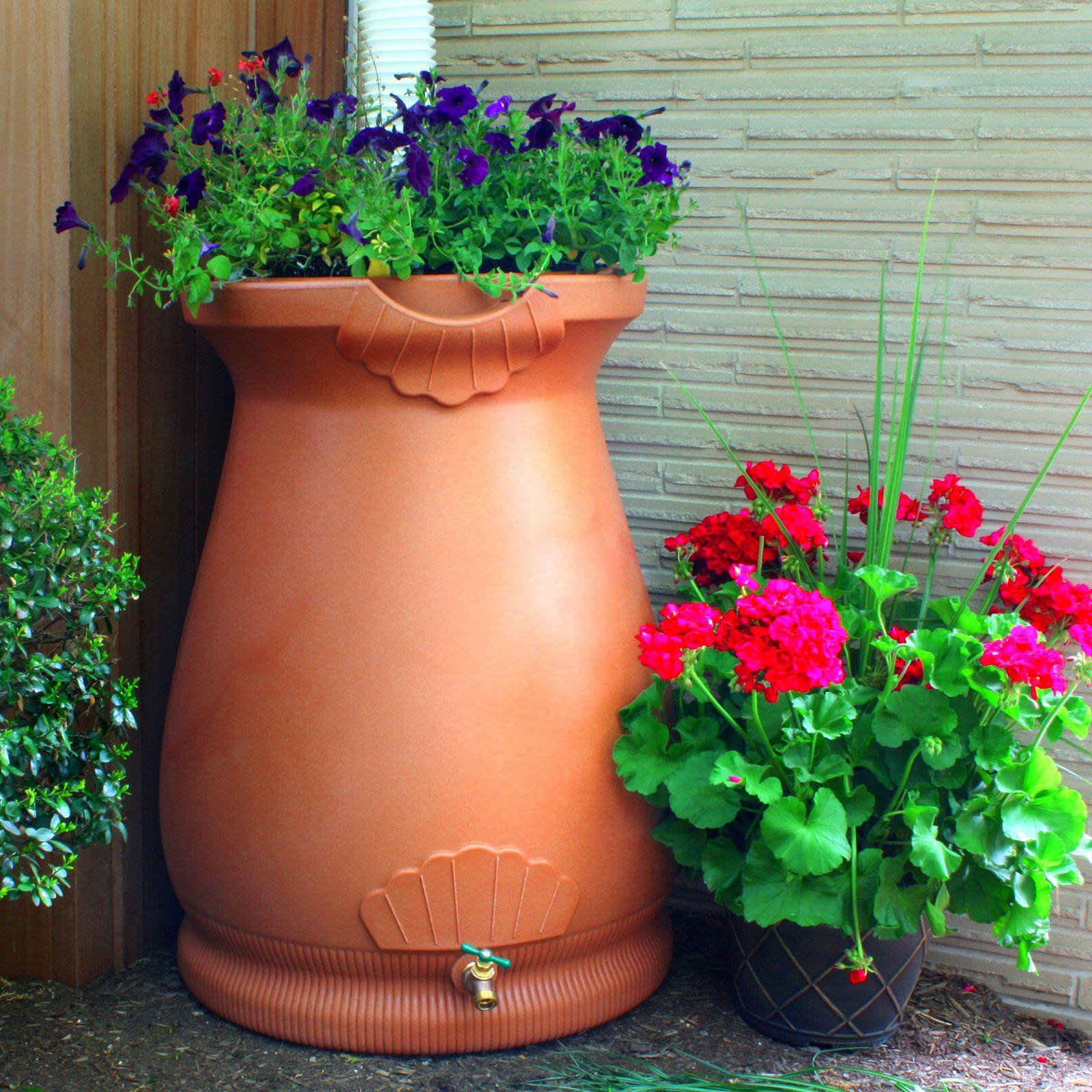 Good Ideas Rain Wizard 65 Gallon Rain Barrel Urn Rain Barrel Water Barrel Barrel