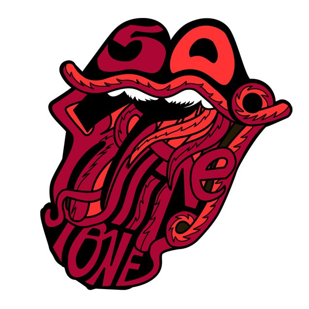 roiling stones logo 50 years | rolling stones | pinterest