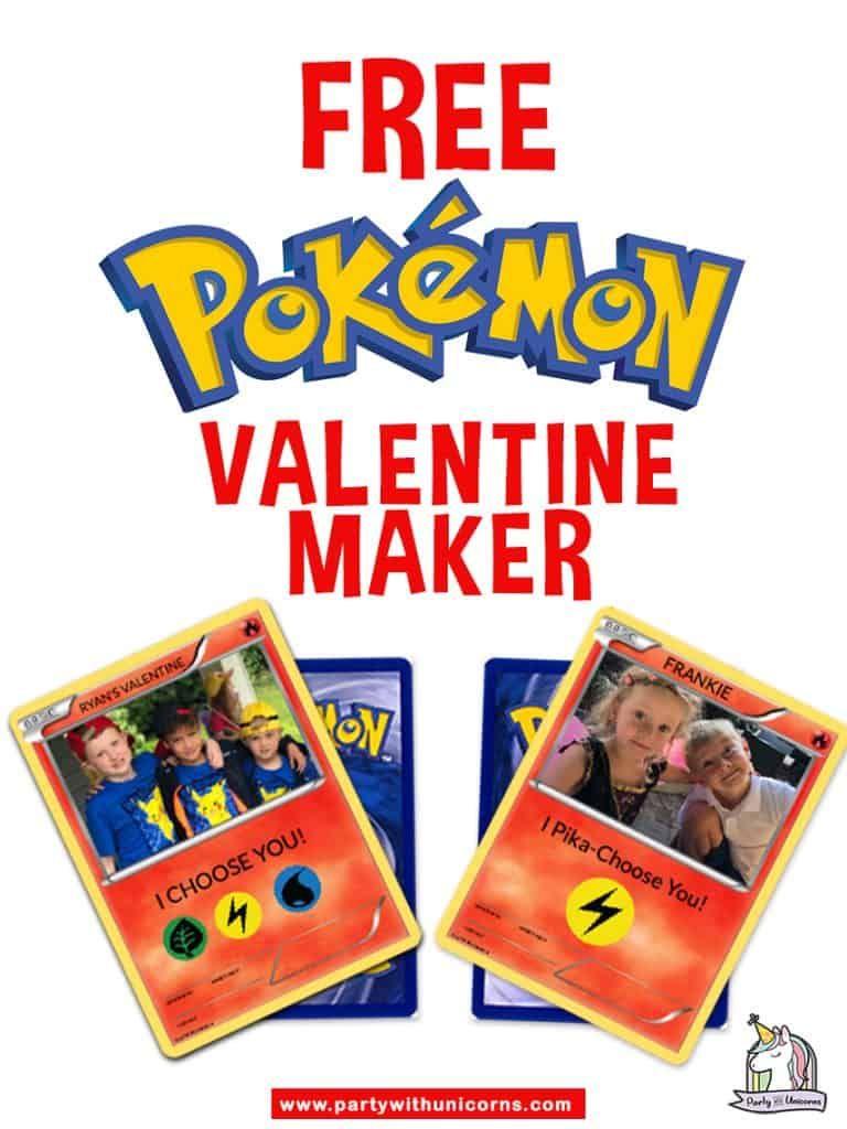 Personalized Pokemon Valentine Maker Pokemon Valentine Cards