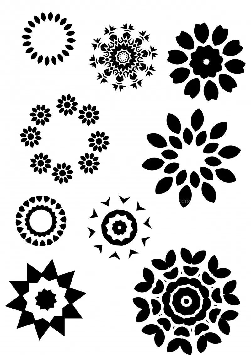 circle Ornaments in 2020 Ornaments, Circle, Vector free