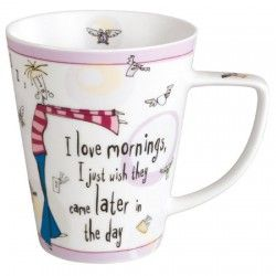 I love mornings. I just wish they came later in the day!