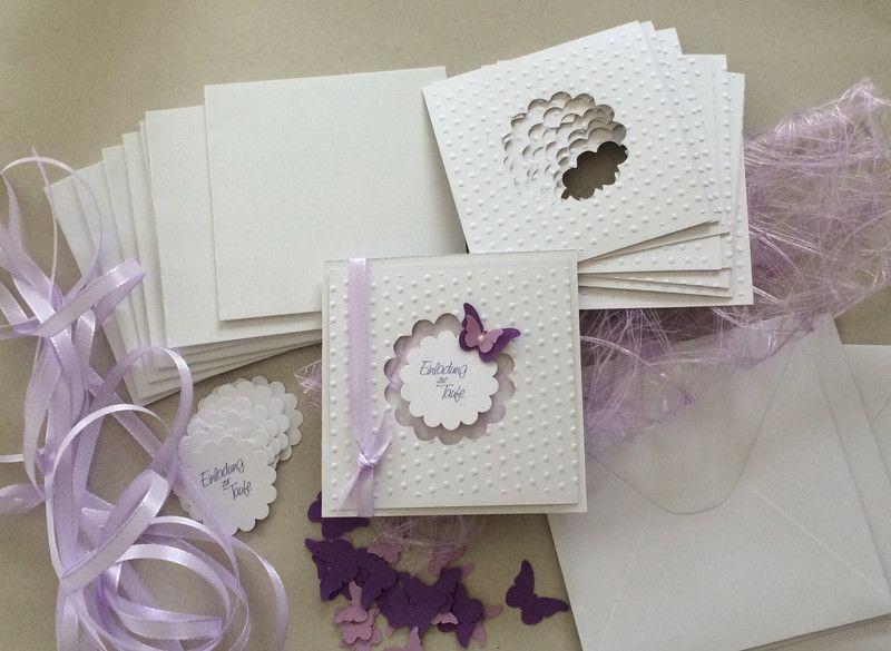 Einladungskarten   Bastelset Für Einladungen Taufe   Ein Designerstück Von  Sandelinchen Bei DaWanda