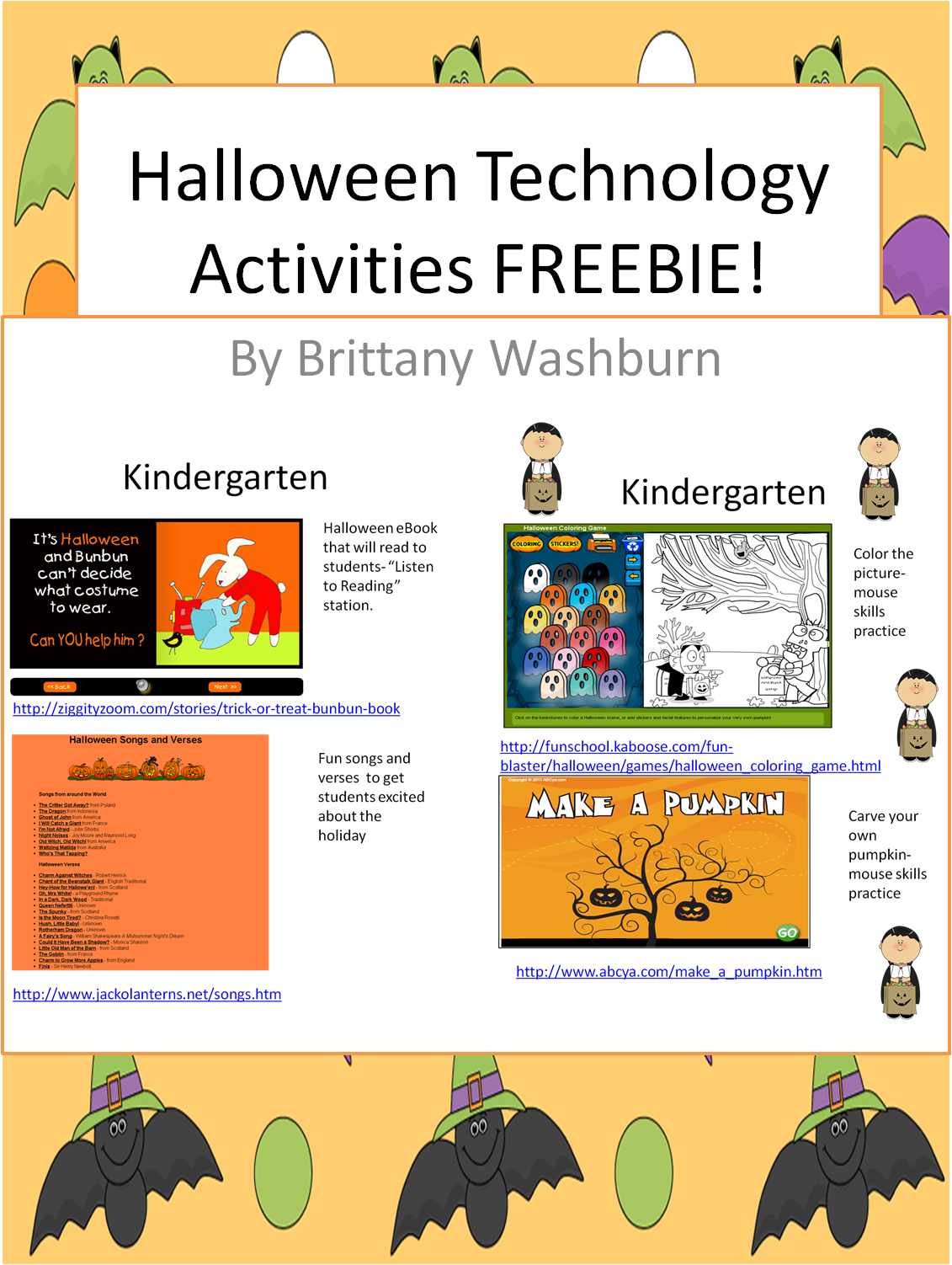 FREE Halloween Computer Activities! | Tech Tips | Pinterest