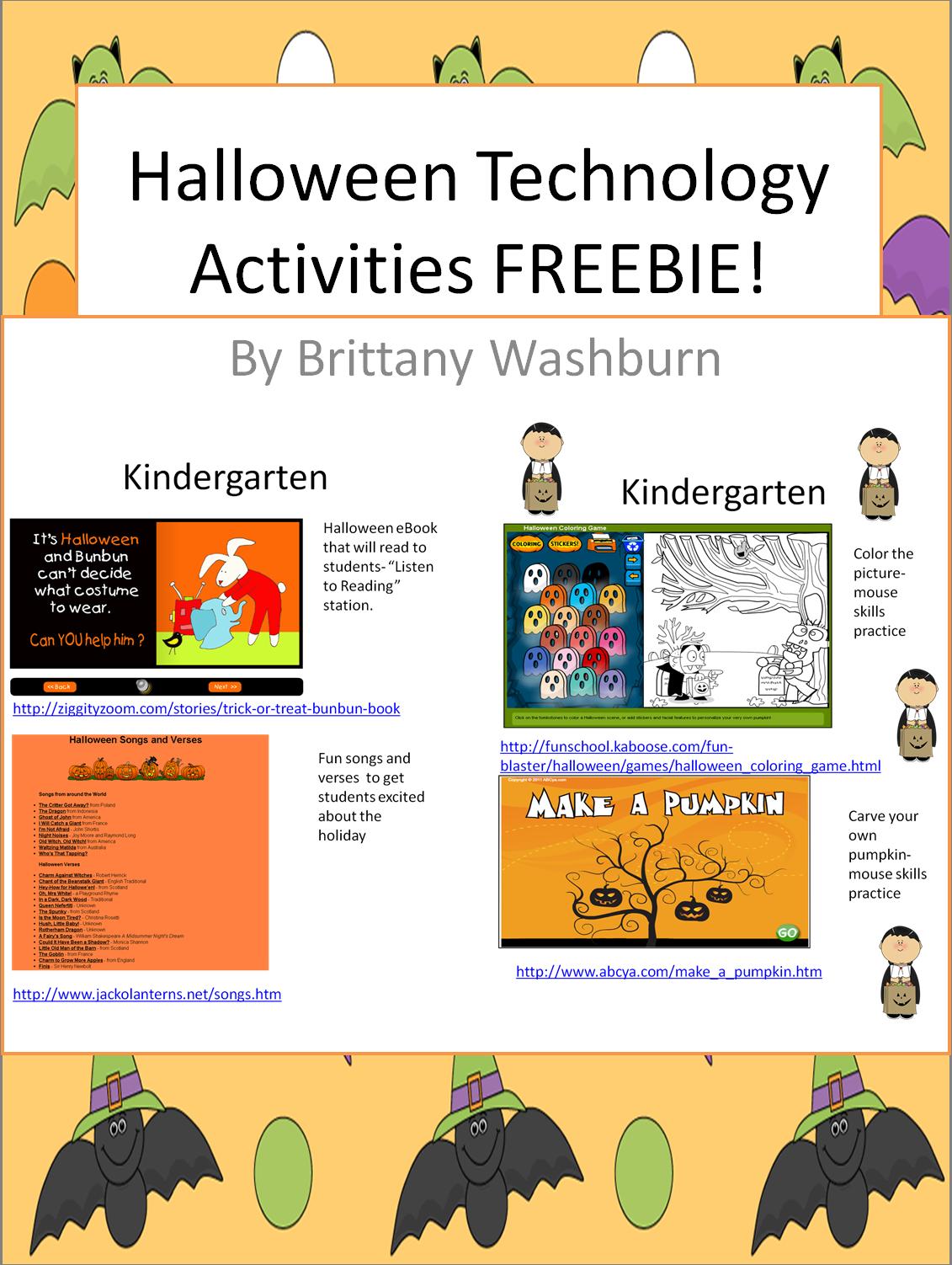 Free Halloween Computer Activities Computer Lab