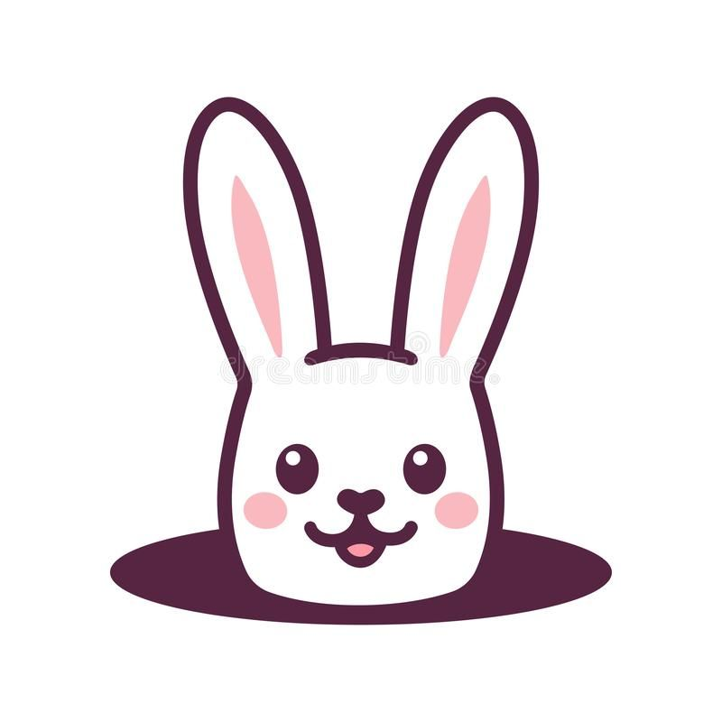 Cute Cartoon Rabbit In Hole Cute Cartoon Rabbit Looking From Hole In Ground Simple Easter Bunny Drawing Isolated Rabbit Cartoon Bunny Drawing Bunny Painting