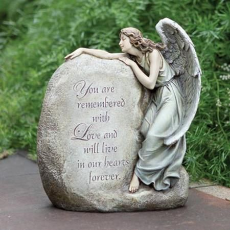 Guardian Angel Memorial Stone Garden Cemetery Statue Mother Pinterest Cemetery Statues