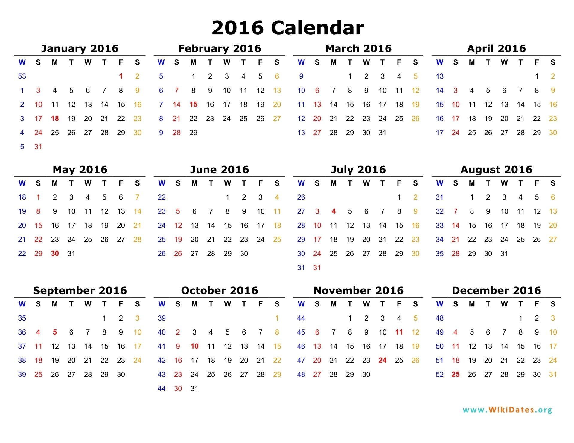Well Created 2016 Calendar Sample Ksoleis | Calendars | Pinterest ...