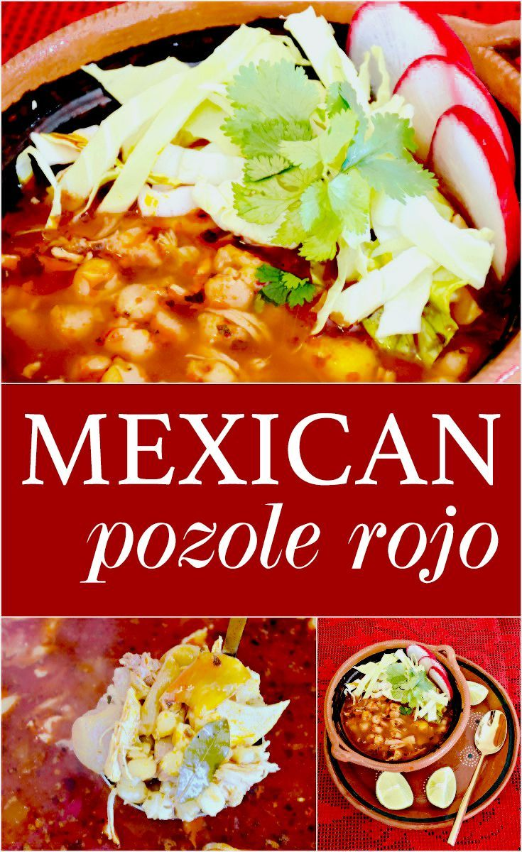 Traditional Pozole Rojo with Chicken