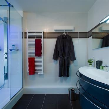 Salle de bain moderne avec douche à lu0027italienne Carrelage salle de - salle de bain moderne douche italienne