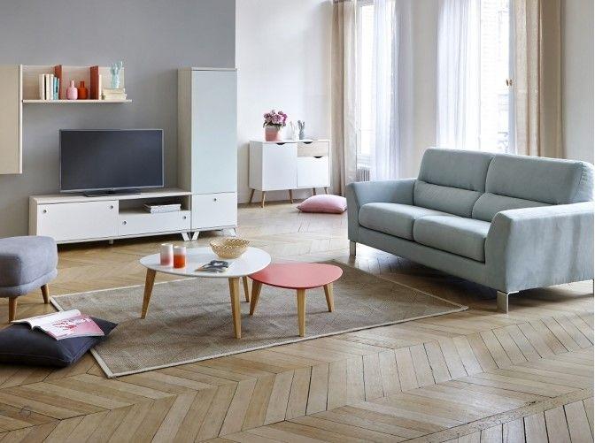 canap 3 places glam tissu bleu glac meubles pas cher pinterest mobilier de salon canap. Black Bedroom Furniture Sets. Home Design Ideas