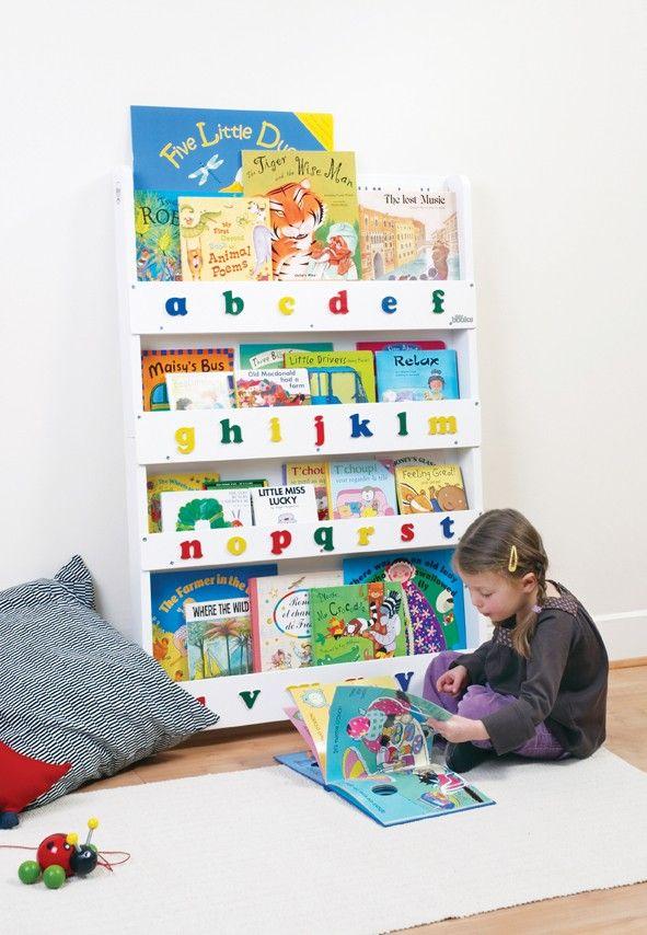 Weiß Kleinbuchstaben Bücherregal kinder