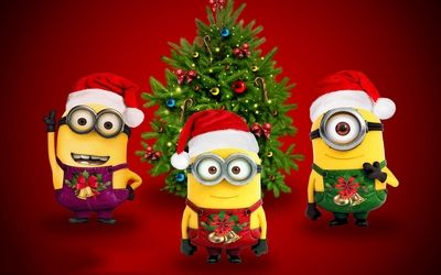 Merry Christmas Minions Wallpaper With Images Minion Christmas