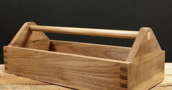 Liked On Pinterest Wood Toolbox Tool Caddy Garden Tote Hardwood Box Storage Box Craft Box Kitchen Storage Storage Ideas Waln Wood Tool Box Tool Box Wood Tools